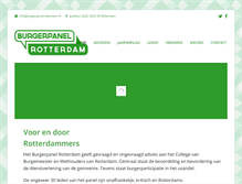 Tablet Preview of burgerpanelrotterdam.nl